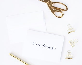 It was always you | Wedding anniversary date card for husband | Wedding day card for fiancee | Marriage proposal card | To my boyfriend G1