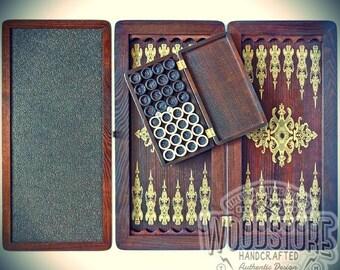 Handmade Wooden Backgammon Set