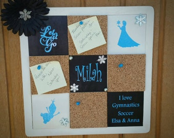 Personalized Bulletin Board, cork board, themed, wedding, character, planner, organization, calendar 14x14
