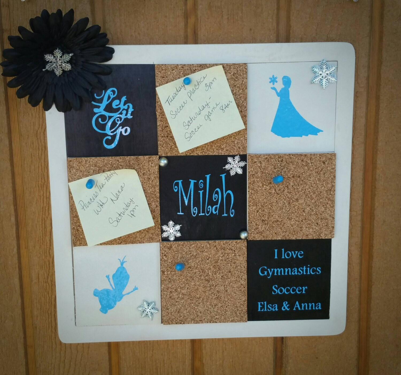 Personalized Bulletin Board Cork Board Themed Wedding