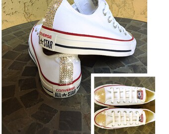 Kids Bling Converse with Swarovski Crystal Toe and Heel
