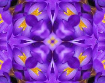 Purple mandala greeting card