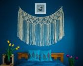 Macrame curtain, macrame wall hanging, macrame fringe, wall hanging macramé, macrame wall art