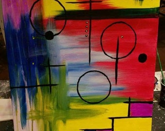 16x20 Abstract Canvas Painting