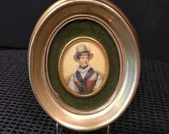 Oval Portrait of Female in Antiqued Frame