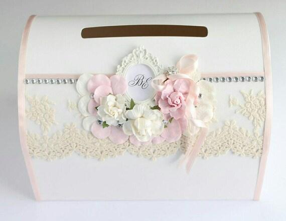 Vintage Wedding Gift Card Box : ... Vintage,Gift Card Box,Wedding Gift Box,Blush Card Box,Lace Card Box