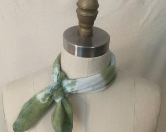 Green Shibori Tie Dye Bandana