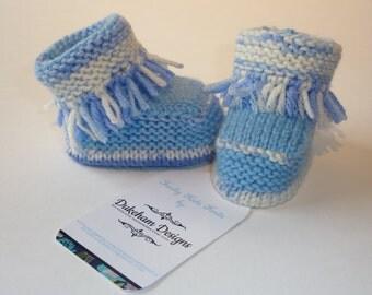 Knitted Baby Booties, Baby Boy Booties, Baby Boy Boots, Hand Knitted Baby bootees, Baby Boy Knits