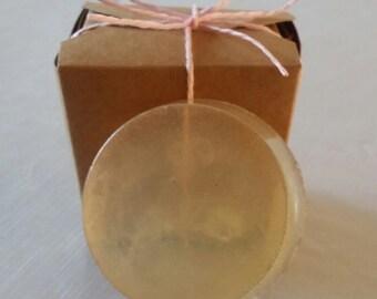 Baby powder scented honey soap