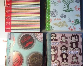 Mini notebooks - set of 4