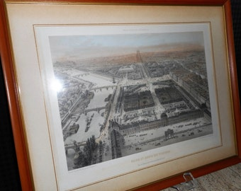 Framed Print of View of The Tuileries Palace & Gardens