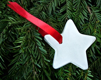 Concrete Christmas Star Ornament