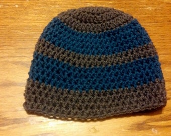 Beanie, Crochet Hat, Infant to Adult Sizes, Any Color