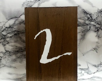 Rustic Wedding Table Numbers-Wooden-Single Number-Vertical