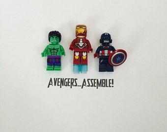Avengers Minifigure Art Shadowbox