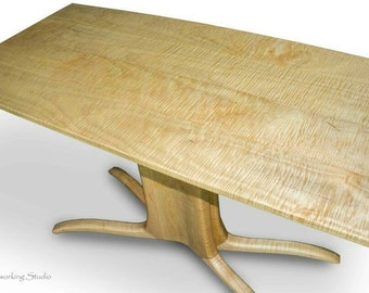Mid Mod Curly Maple Side Table