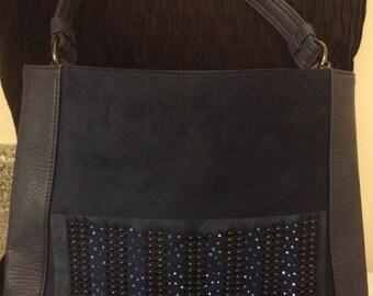Navy Blue studed Handbag