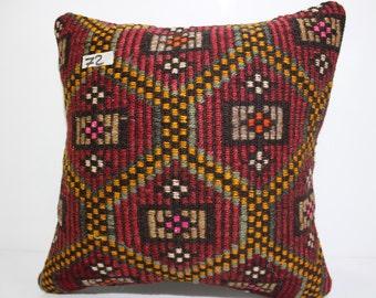 Turkish Pillow 18x18 Inch   45x45 Cm Decorative Kilim Pillow Woven Pillow  Sofa Pillow Livingroom Pillow