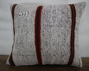 KILIM PILLOW 15x17 inches ,Turkish kilim pillow,decorative kilim pillow,kilim cushion cover,throw pillow,Made in Turkey Pillows SP4040-483