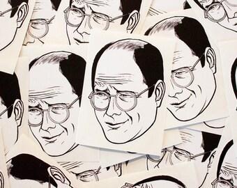George Costanza Cut Out Sticker