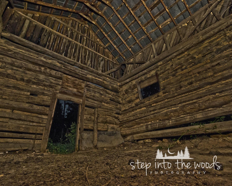 Tobacco Barn Inside Nature Photography Log Cabin Log Cabin