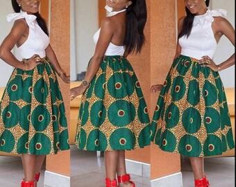 African skirt, African fabric, Ankara skirt, African print skirt,