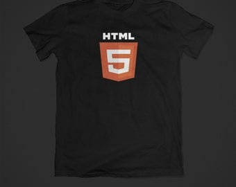 HTML5 t-shirt - HTML5 - programmer - pc gaming - nerd tshirt - I love html5 - html shirt - computer nerd - computer geek gift - web design