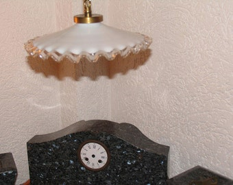 Antique hanging lamp opal glass