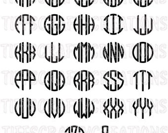 Monogram font file, monogram font svg, circle monogram cut, circle monogram font, cricut fonts, monogram svg letter, svg font files
