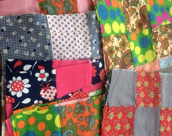 Pristine Quilt Blocks 1970's , 70 Blocks in all many different designs