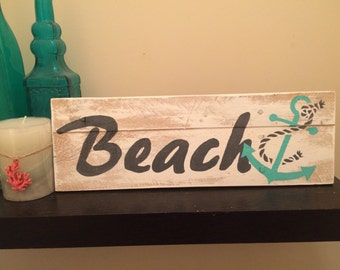 Anchor/ Beach /Anchor Vintage/handainted/ pallet art
