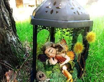 Midsummer Monarch Fairy Lantern - OOAK