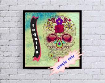 Tequila Skulls 10x10