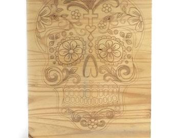 C-Table Sugar Skull (Custom Image/Phrase Available)