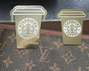 Coffee Cup Silver Metal Paperclip Large or Small