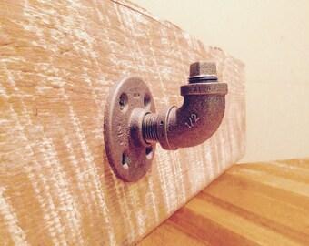 Set of Industrial Pipe Hooks- Towel hook- Coat hook- Wall hook (Set of 2 or 3)