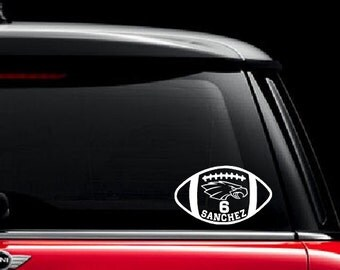 Custom Football Decal Unique Sports Sticker Sons Name - Football custom vinyl decals for cars
