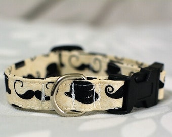 Mustaches & Hats Dog Collar / Size XS / Ready-To-Ship