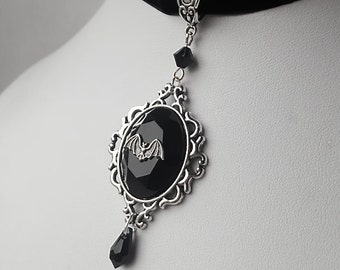 Night Creature Gothic Bat Choker