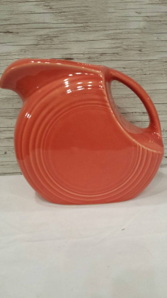 Vintage Orange Fiesta 2 Quart Pitcher by Homer Laughlin and made in the U.S.A.