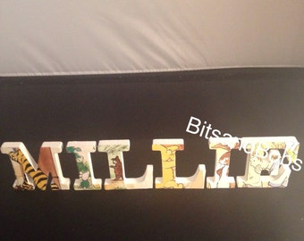 Winnie the Pooh letters, nursery letters, baby names