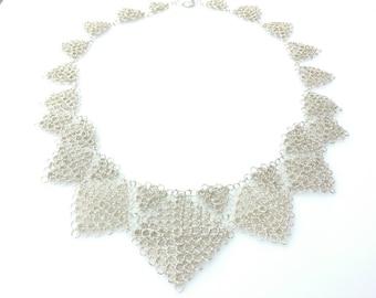 Sterling Silver Wire Peruvian Stitch Necklace