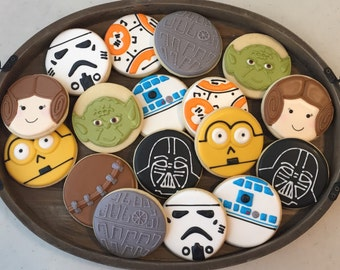 Star Wars Cookies mix of Nine (1 dozen)
