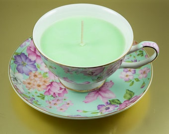 Teacup and Saucer Candle