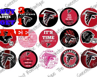 Atlanta Falcons Bottle Cap Images, Buy 3 Get 1 Free of equal or lesser value