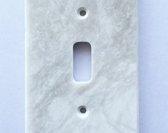 Real Natural Stones White Marble Meram Blanc Switch Plate Cover