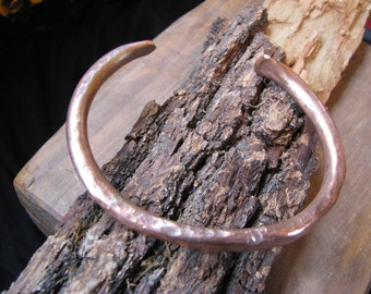rustic hammered copper bangle