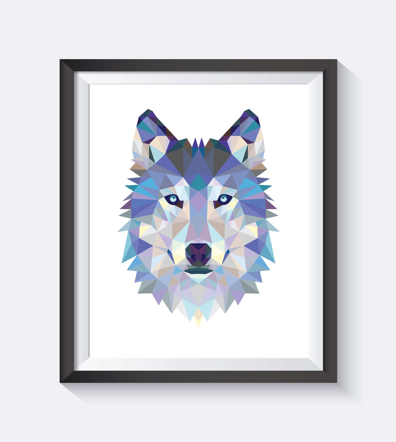 Wolf Print Polygon Wolf Face Triangle Wolf Geometric Wolf
