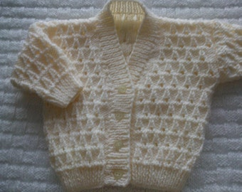 Baby hat and cardi set