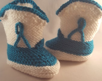 Cowboy /Cowgirl knitted baby booties